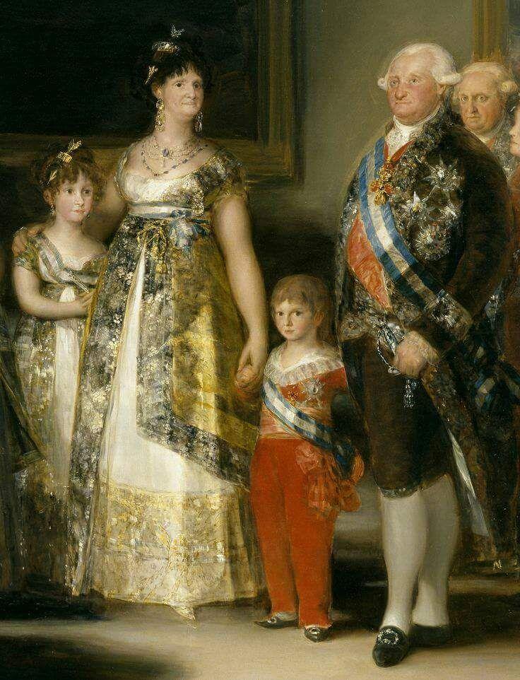 Francisco Goya, La famiglia di Carlo IV (dettaglio), 1800-1801.