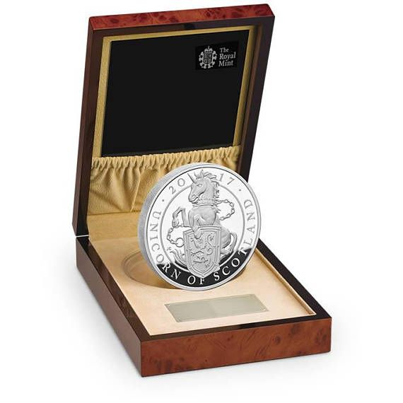 The Unicorn of Scotland 2017 UK Silver Proof Kilo Coin