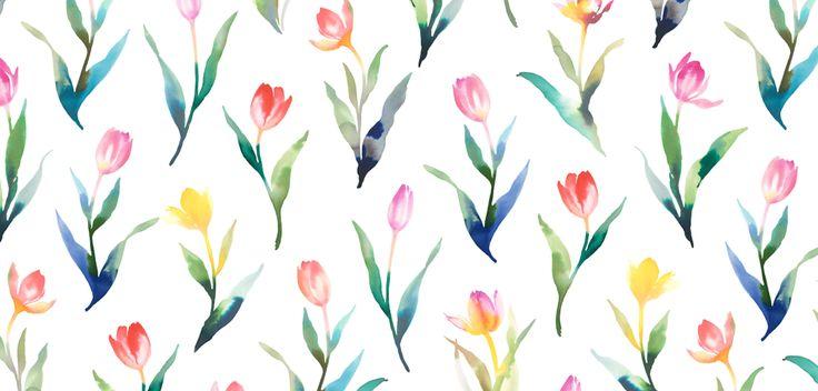 チューリップ  watercolor,illustration,flower,水彩,花柄,イラストレーション
