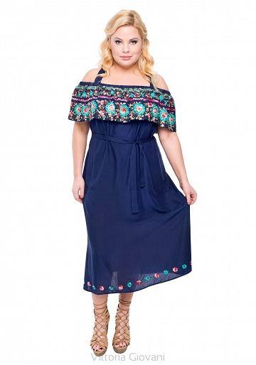 SUKIENKA PLUS SIZE GYPSY - Vittoria Giovani - Sukienki dla Puszystych – Sukienki Duże Rozmiary – Sukienki XXL