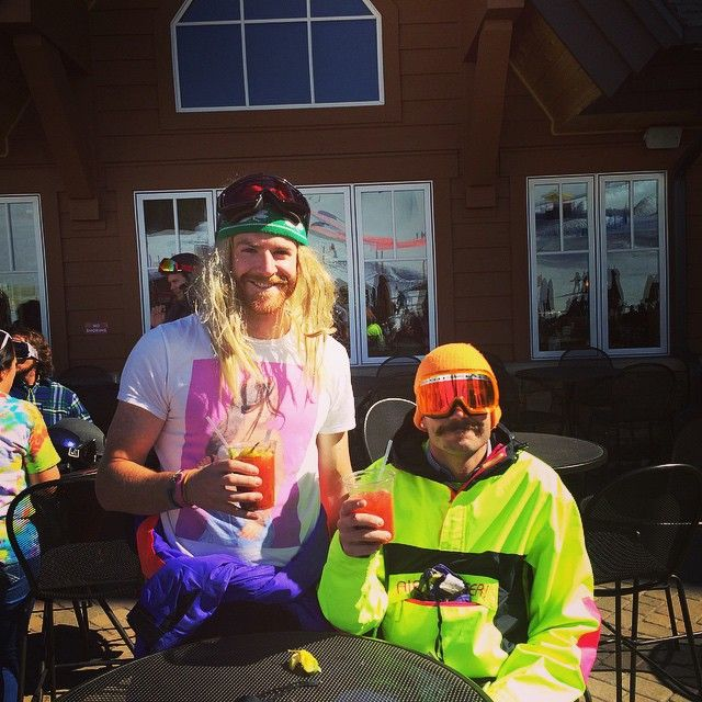Pre Gaper Day at the T-Bar of Breckenidge for their Throwback Throwdown event on the Ski Bus Time Machine!