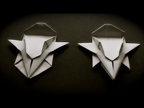 How to fold origami paper craft Speed Racer's Mach 5 car step by step DIY tutorial instructions.