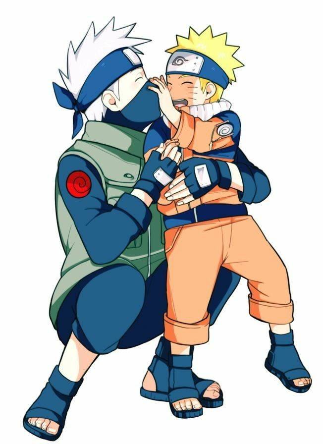 Naruto and Kakashi | Naruto | Naruto kakashi, Naruto cute, Naruto