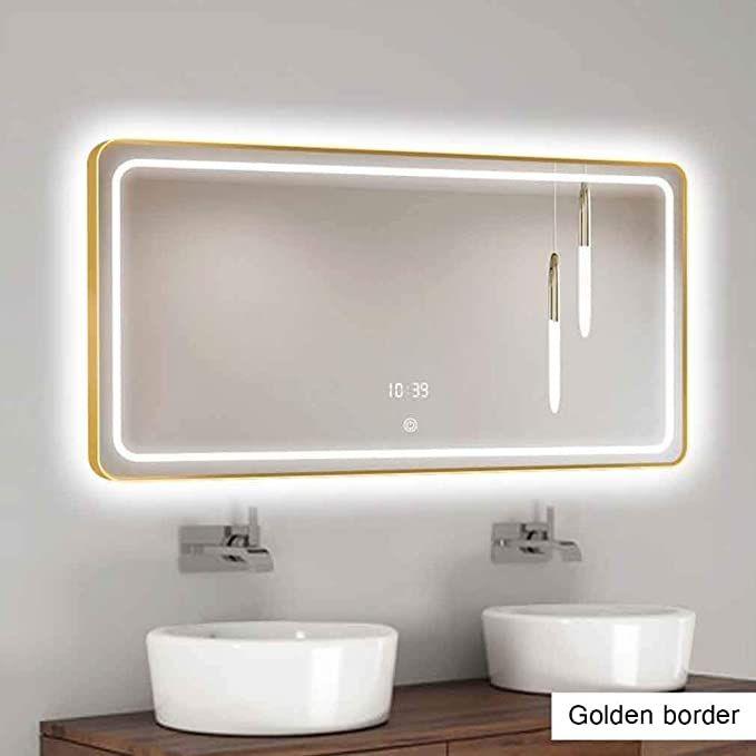 Qz Nordic Bathroom Mirror Led Makeup, Defog Bathroom Mirror