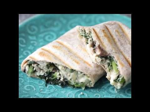 Healthy Breakfast Burritos with Kale, Mushrooms and Feta | Sweet Peas and Saffron