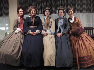 LOVE the gown on the far right~perhaps something like this for Dickens Fair.