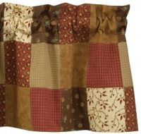 Country Curtain Valances - Grandmas Quilt Country Curtain Valance primitivehomedecors.com