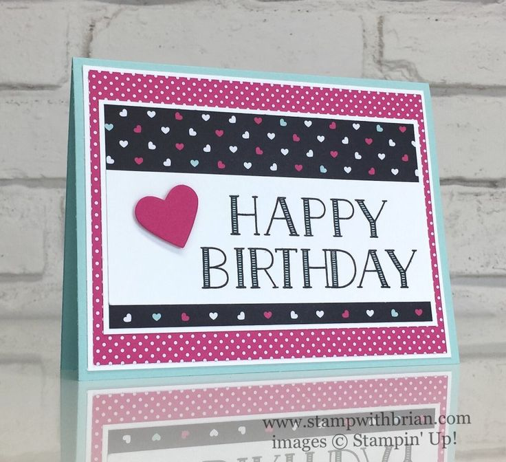 Big on Birthdays, Pop of Pink Specialty Designer Series Paper, Stampin' Up!, Brian King, birthday card