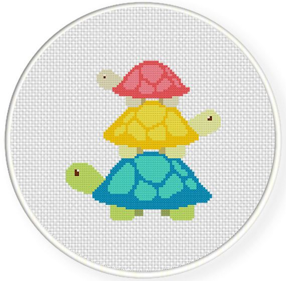 FREE for June 5th 2014 Only - Turtle Tower Cross Stitch Pattern