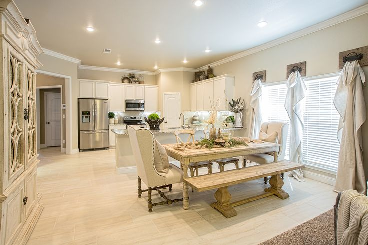 The Kitchen/dining Area Of The Rebecca! To See More Homes
