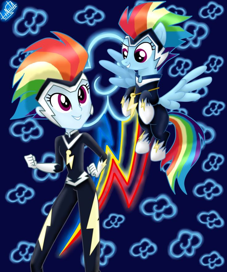 Rainbow Dash Power - Eq Girls and Pony by liniitadash23 on DeviantArt