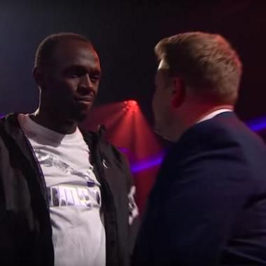 Usain Bolt crushes James Corden in Drop the Mic rap battle http://ift.tt/2gpRCrk #hollywood #movies #tv