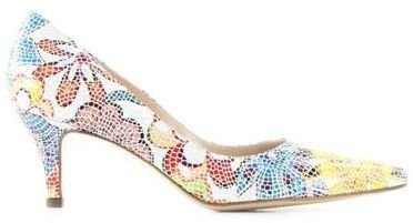 Peter Kaiser Multi coloured 'soffi' womens mosaic floral court shoes on shopstyle.com.au
