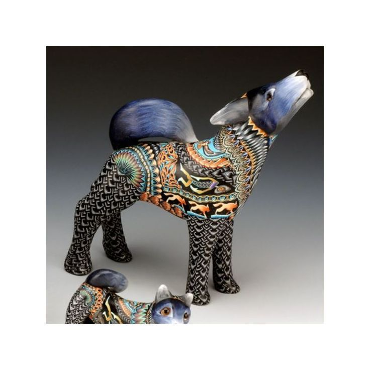 Wolf Sculpture | Papa | Clay | FimoCreations