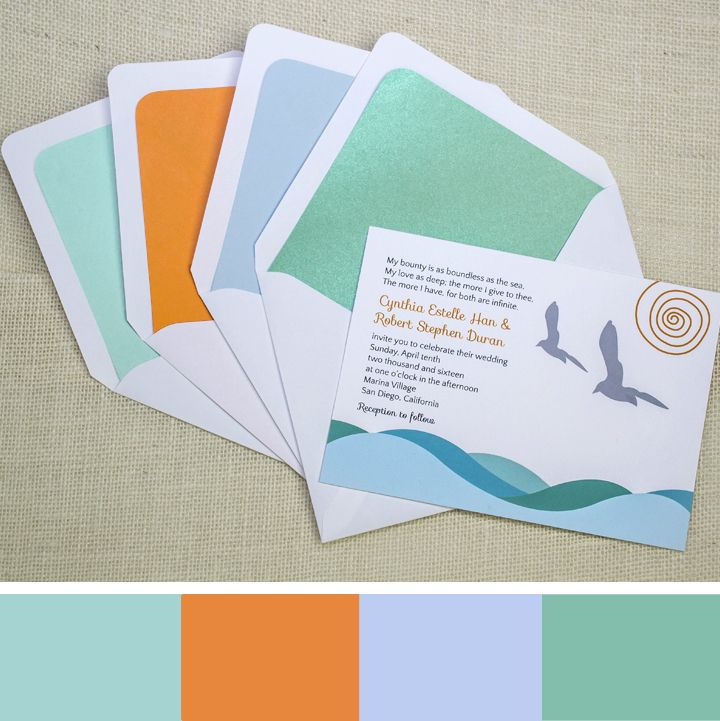 beach weddings in orange county ca%0A This aqua  baby blue and orange color palette for a beach wedding is  inspired by