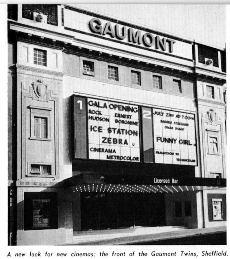 Ice Station Zebra and Funny Girl at the Gaumont, Sheffield. July 1969