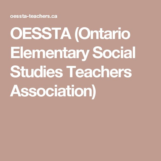 OESSTA (Ontario Elementary Social Studies Teachers Association)