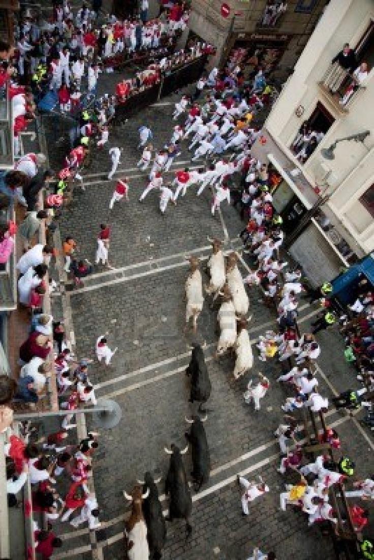 San Fermines en Pamplona  Navarra Spain