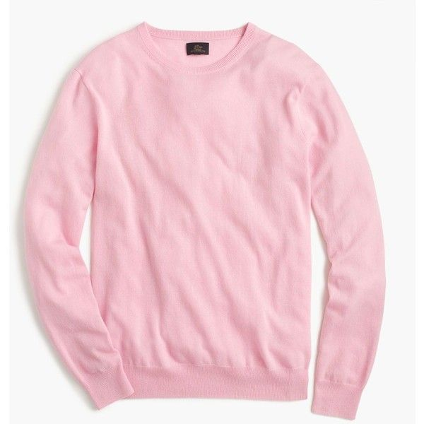 J.Crew Lightweight Italian Cashmere Crewneck Sweater (€175) ❤ liked on Polyvore featuring men's fashion, men's clothing, men's sweaters, mens lightweight sweaters, mens crewneck sweaters, mens cashmere sweaters, j crew mens sweaters and mens crew neck sweaters