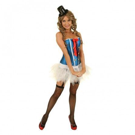 Womens Ahoy Sailor Corset Costume