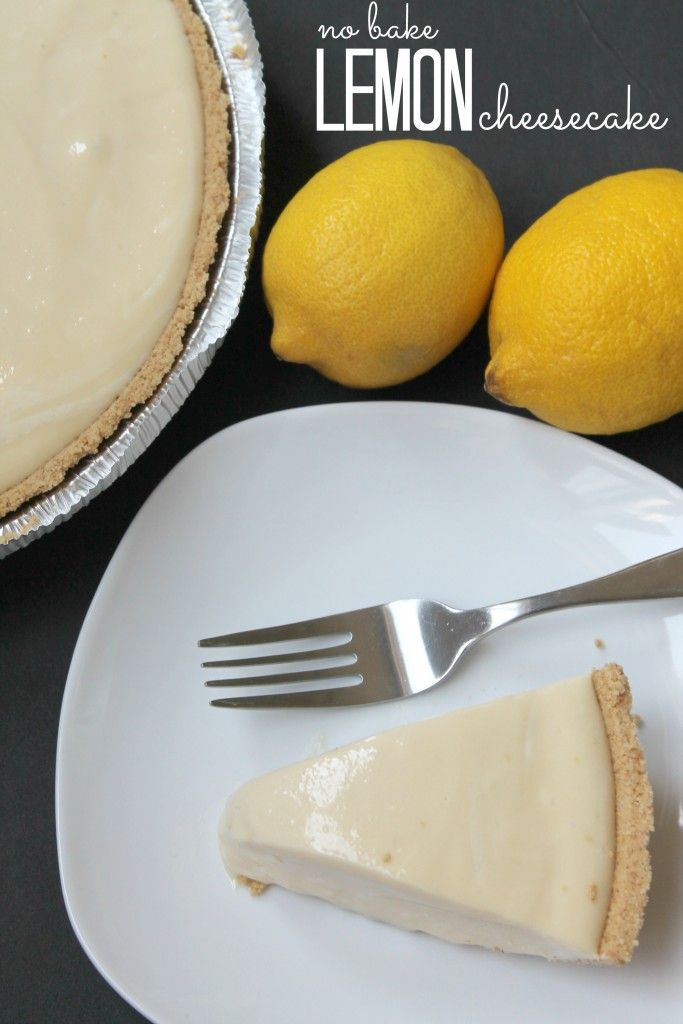 No Bake Homemade Lemon Cheesecake! Easy Dessert Recipe!
