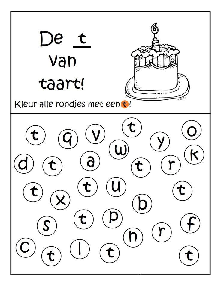 Werkblad geletterdheid: De t van taart!