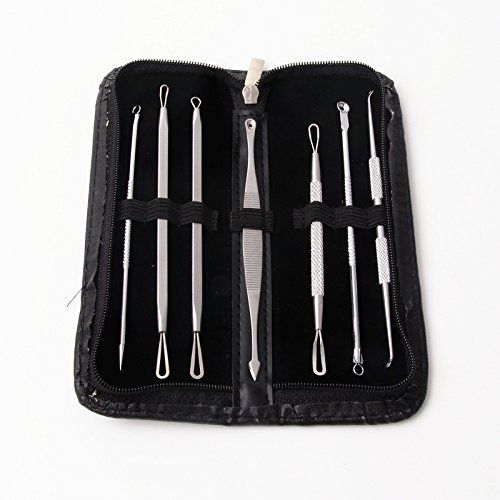 Ksmxos 7Pcs Blackhead Remover Pimple Extractor Acne Comedone Blemish Zit Removal Tool Kit , Professional Surgical Extractors Instruments *** Continue to the product at the image link. (Note:Amazon affiliate link)