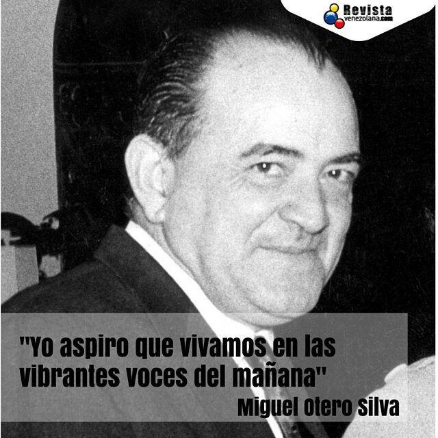 Miguel Otero Silva escritor periodista político. Sus obras han merecido la admiración de autores tan conocidos como Pablo Neruda y Gabriel García Márquez. Todo un #OrgulloVenezolano.  #Historia #VolviendoAVzla #MiguelOteroSilva #VenezolanosEnElExterior