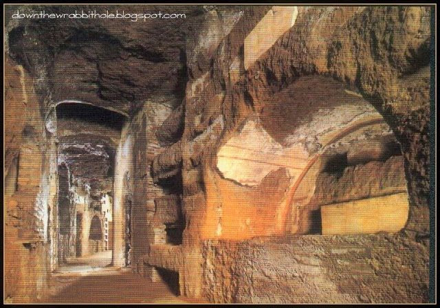 """Wander the labyrinth hallways of the Roman Catacombs of St. Callixtus. Find out more at """"Down the Wrabbit Hole - The Travel Bucket List"""". Click the image for the blog post."""