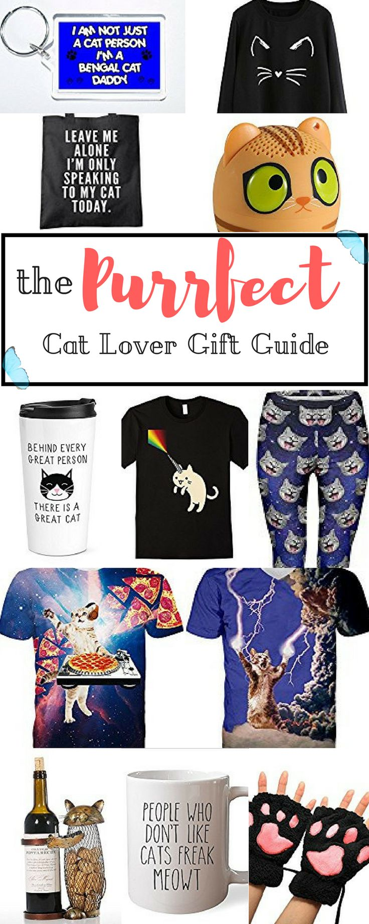 Do you know any cat people in dire need of fun gifts this season? You came to the right place! Today we're talking about cat inspired items, for all the humans who love the felines (even more than other humans)! Here is our new purrfect cat lover gift guide!