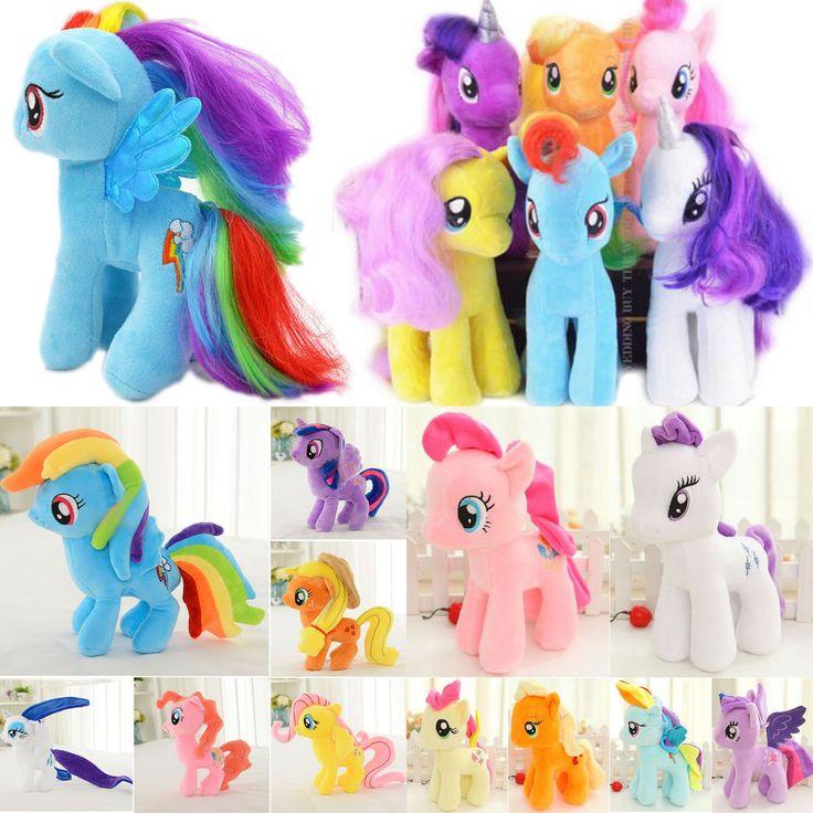Kids My Little Pony Plush Toys Stuffed Teddy Unicorn Horse Dash Doll Xmas Gifts #Unbranded #CuteLovelyCartoon