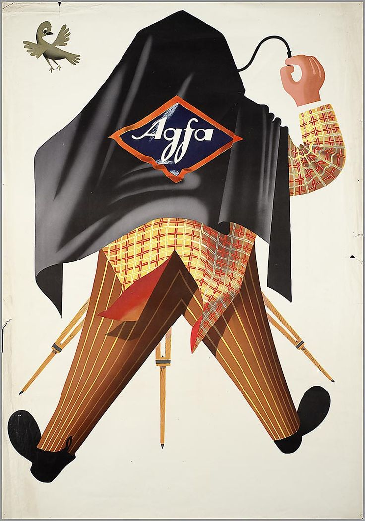 Agfa advertising poster, West Germany 1951