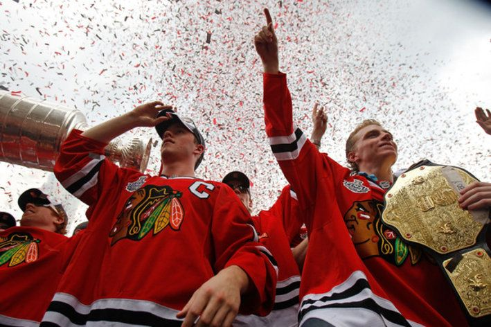 """""""Jonathan Toews and Patrick Kane will be here forever. I can't predict what the salary cap will be in the near future, but I can tell you that Jonathan and Patrick will be on this team. Those two players put the Blackhawks back on the map, they're up in a couple years, and whatever the numbers are, we'll figure out the details. The notion that the money we're spending now will affect our ability to keep Jonathan and Kane ... it's a non-issue. They will be here no matter what."""" -Stan Bowman"""