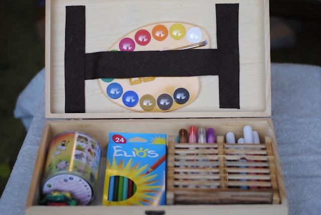 diy kid art case / kit del piccolo artista fai da te