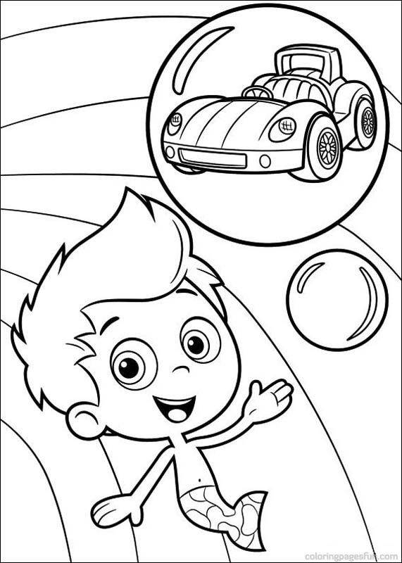 bubble guppies coloring pages 23