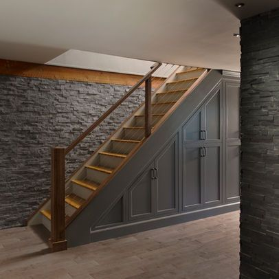 Amazing Basement Stair Storage