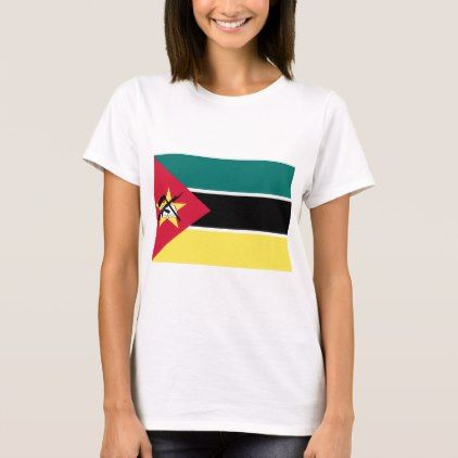 #Low Cost! Mozambique Flag T-Shirt - #travel #clothing
