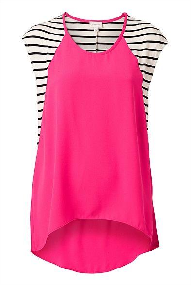 Woven Front Stripe T-Shirt #witcherywishlist