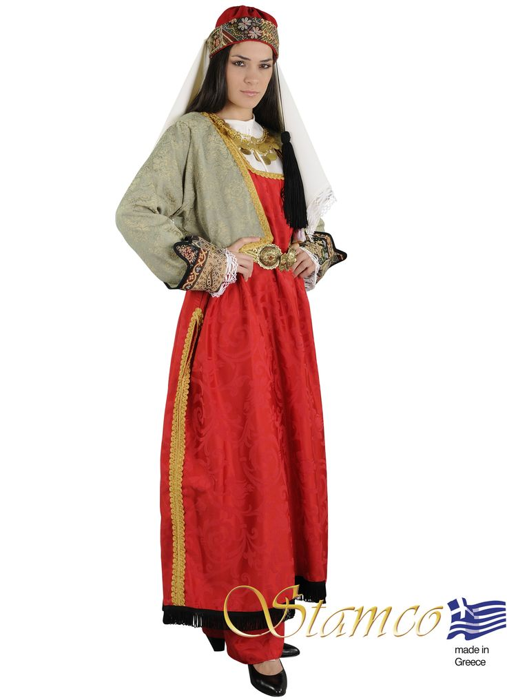 Greek costumes for women, Greek traditional costume  aegean Islands,cyclades NORTH AEGEAN WOMAN