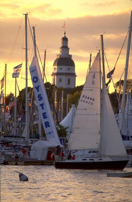 Sailing on the bay, Annapolis, Maryland