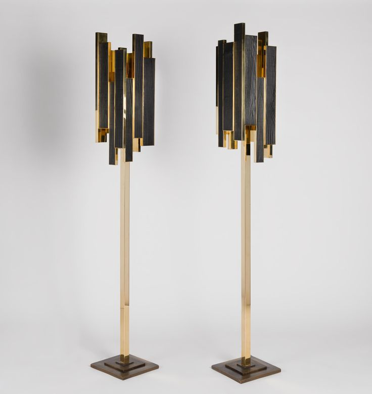 PHOENIX LAMP Bronze, charred wood