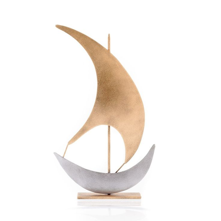 Modern Metal Ornament Handmade, Table & Wall Nautical Art Decor, Sailboat