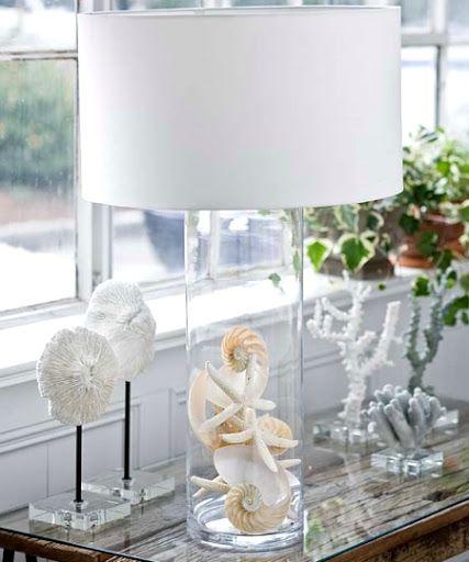 coastal glass lamp