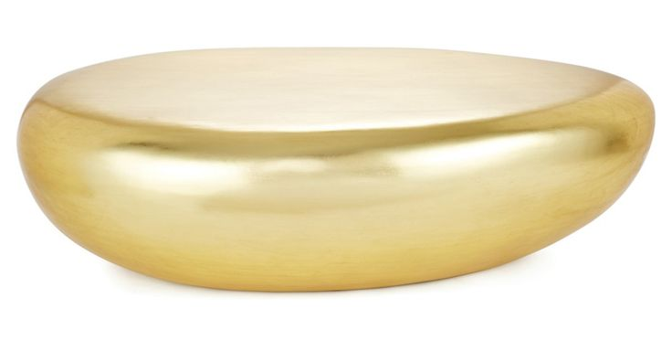MG Decor - How chic is this gold riverstone cocktail table?! #decor #nyc #modernpreppyglam