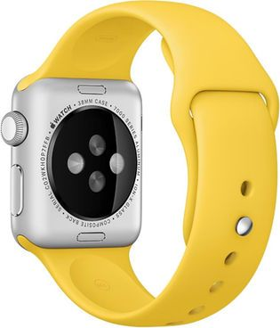 Apple Watch 38 mm Sportarmband, gelb, 38mm #Smartwatch #Armband #Kunststoff #Accessoire #digitec