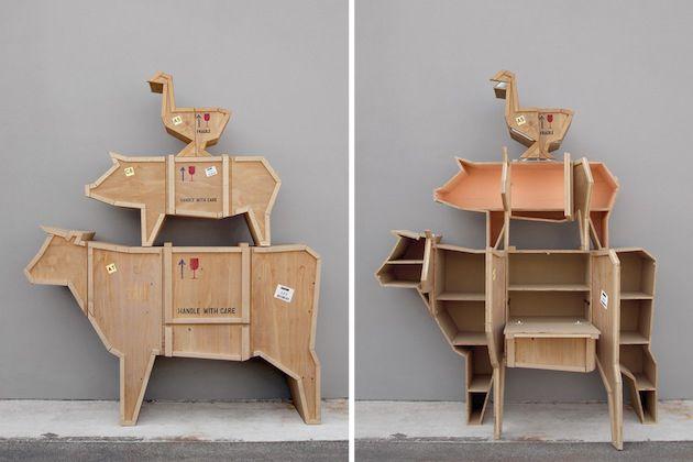 Unique Animal Crate Shaped Furniture