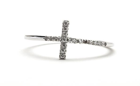 Dainty Cross Ring from the Dainties Collection  http://www.sterns.co.za