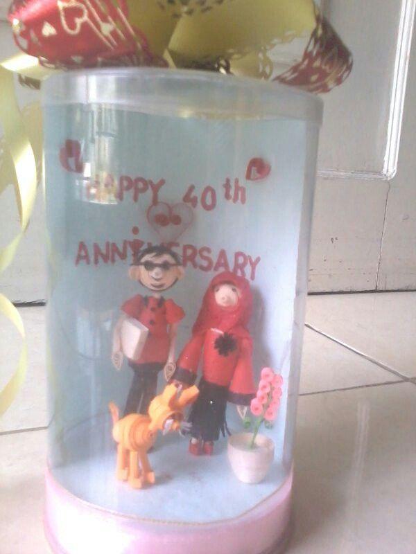 Real figure in jar