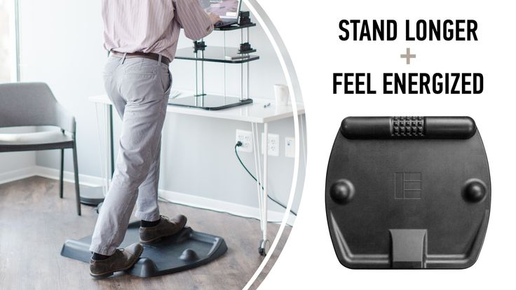 The patent-pending TerraMat was designed to keep you moving behind your desk, improve fitness, and increase productivity at work.