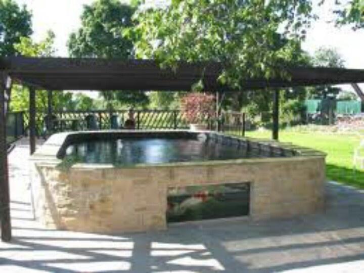 67 best ponds images on pinterest garden fountains for Brick koi pond